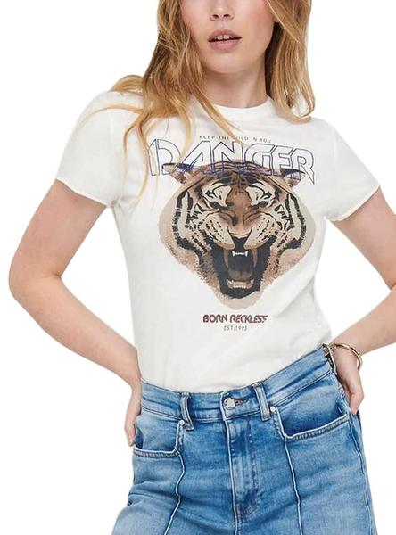 Camiseta Only Lucy Blanco para Mujer