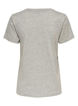 Camiseta Only Lava Gris para Mujer