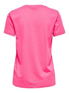 Camiseta Only Lava Fucsia para Mujer