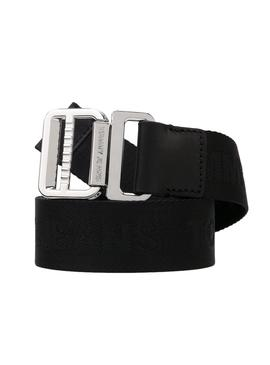 Cinturon Tommy Hilfiger Tape Negro para Mujer