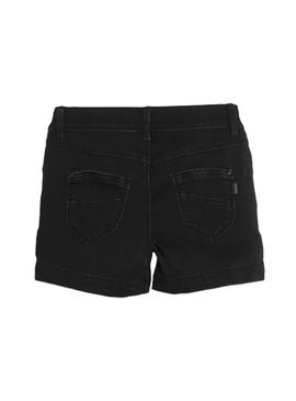 Shorts Name It Salli Denim Negro Para Niña
