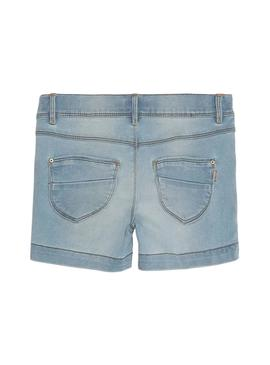 Shorts Name It Salli Denim Light Blue Para Niña