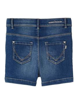 Shorts Name It Salli Denim Medium Blue Para Niña