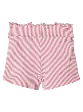 Shorts Name It Fastripe Rosa Para Niña