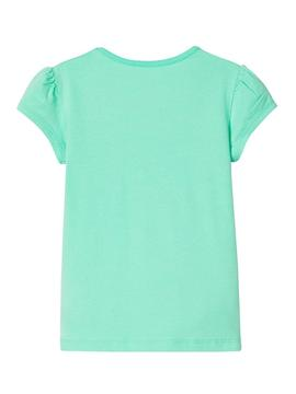 Camiseta Name It Hapina Verde Para Niña
