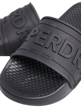 Chanclas Superdry Chunky Negro Para Mujer