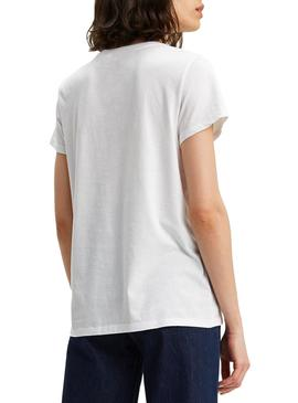 Camiseta Levis Perfect Tee Large Blanco para Mujer