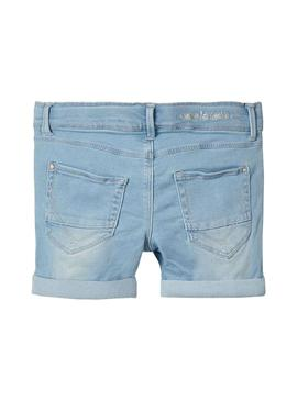 Shorts Name It Salli DNM Light Blue Para Niña