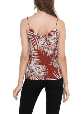 Top Only Augustina Granate para Mujer