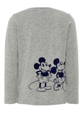 Camiseta Name It Mickey Nate Gris Para Niño