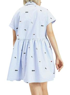 Vestido Tommy Jeans Critter Azul para Mujer
