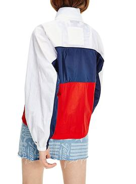 Parka Tommy Jeans Colorblock para Mujer
