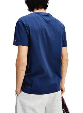Camiseta Tommy Jeans Pieced Azul para Hombre