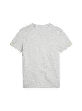 Camiseta Tommy Hilfiger Essential Global Gris