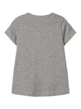Camiseta Name It Girls Gris Para Niña