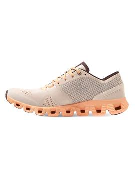 Zapatillas On Running Cloud X Silver Almond Mujer