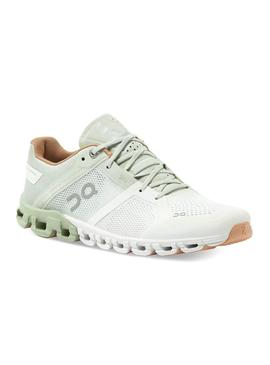 Zapatillas On Running Cloud Flow Aloe White Mujer