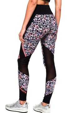 Leggings Superdry Active Mesh Panel Leopard Mujer