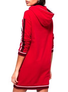 Vestido Superdry College Hooded Rojo Mujer