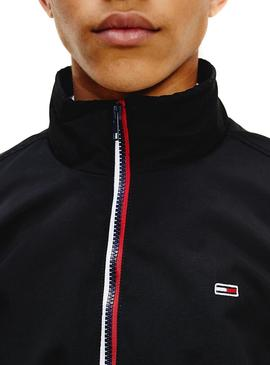 Chaqueta Tommy Jeans Essential Negro para Hombre