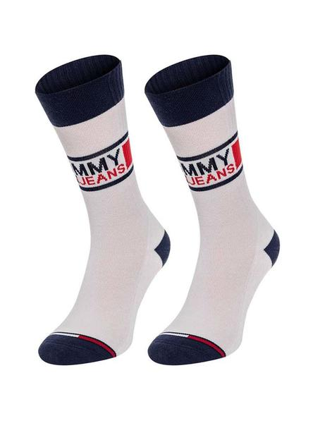 Pack Calcetines Tommy Jeans TH Unisex Blanco
