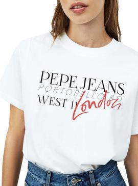 Camiseta Pepe Jeans Anette Blanco para Mujer