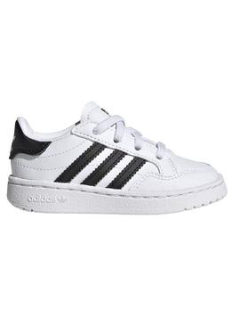 Zapatillas Adidas Team Court Mini Blanco Para Niño