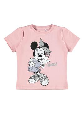 Camiseta Name It Minnie Rosa para Niña