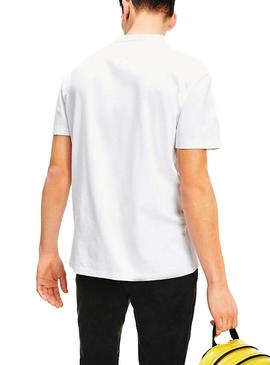 Camiseta Tommy Jeans Small Flag Blanco para Hombre