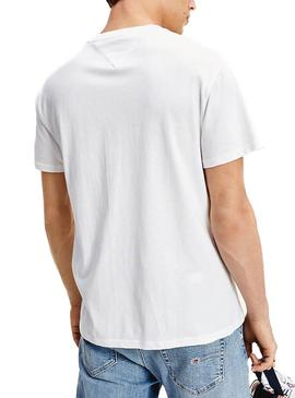 Camiseta Tommy Jeans Patches Blanco para Hombre