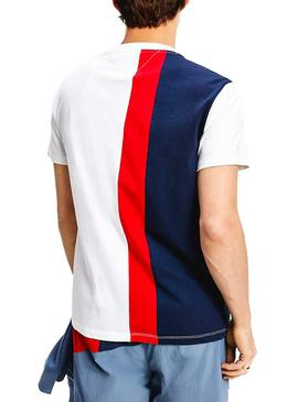 Camiseta Tommy Jeans Colorblock Vertical Hombre