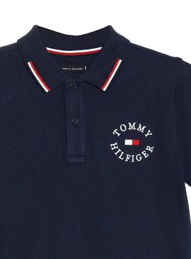 Polo Tommy Hilfiger Badge Marino Para Niño