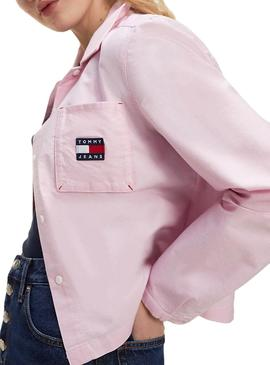 Camisa Tommy Jeans Technic Rosa para Mujer
