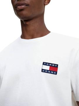 Camiseta Tommy Jeans Big Patch Blanco para Hombre