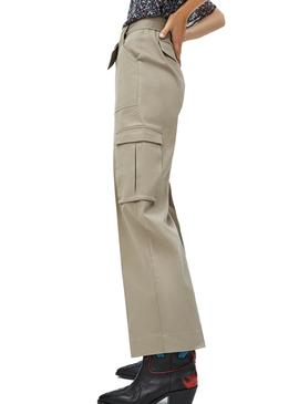 Pantalon Pepe Jeans Ashley Beige para Mujer