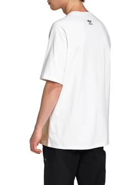 Camiseta Adidas Big Trefoil Colorblock Blanco
