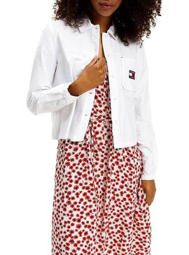 Camisa Tommy Jeans Technic Blanco para Mujer