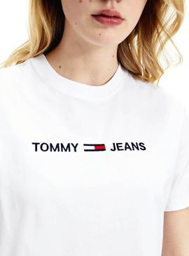 Camiseta Tommy Jeans Modern Logo Blanco para Mujer