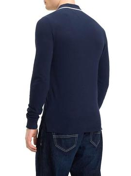 Polo Tommy Jeans Stretch Azul
