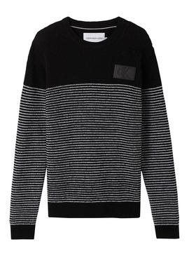 Jersey Calvin Klein Jeans Striped Negro Hombre