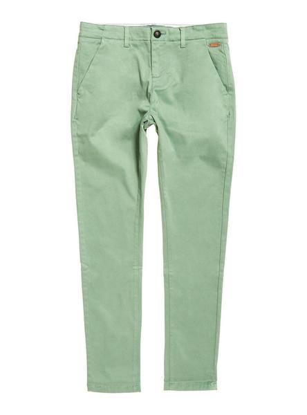 Pantalones Superdry Chino City Verde Mujer