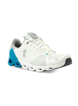 Zapatillas On Running Cloudflyer White Blue Hombre