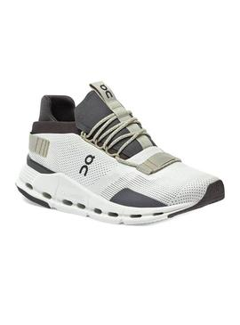 Zapatillas On Running Cloudnova White Umber Hombre