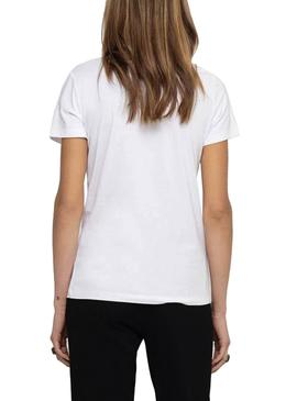 Camiseta Only Rolling Stones Blanco para Mujer