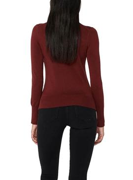 Jersey Only Venice Rollneck Granate Para Mujer