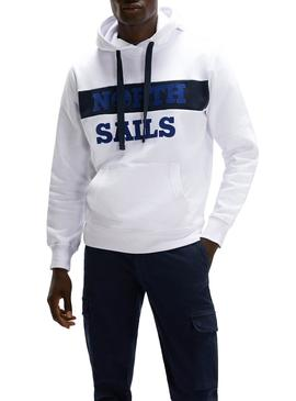 Sudadera North Sails Hooded Blanco para Hombre