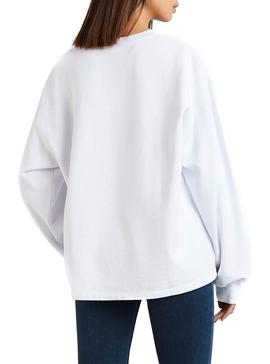 Sudadera Levis Graphic Big Sportswear Blanco