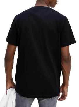 Camiseta Tommy Jeans Big Patch Negro para Hombre