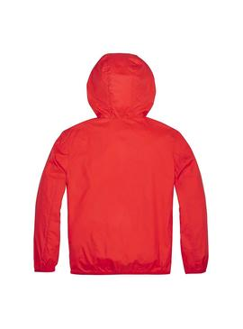 Chaqueta Tommy Hilfiger Unisex Pop Over Rojo