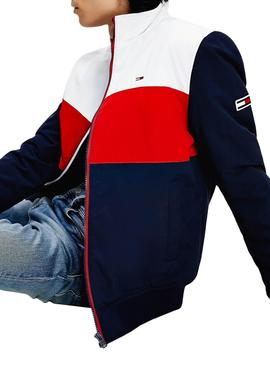 Cazadora Tommy Jeans Essential Color Block Hombre
